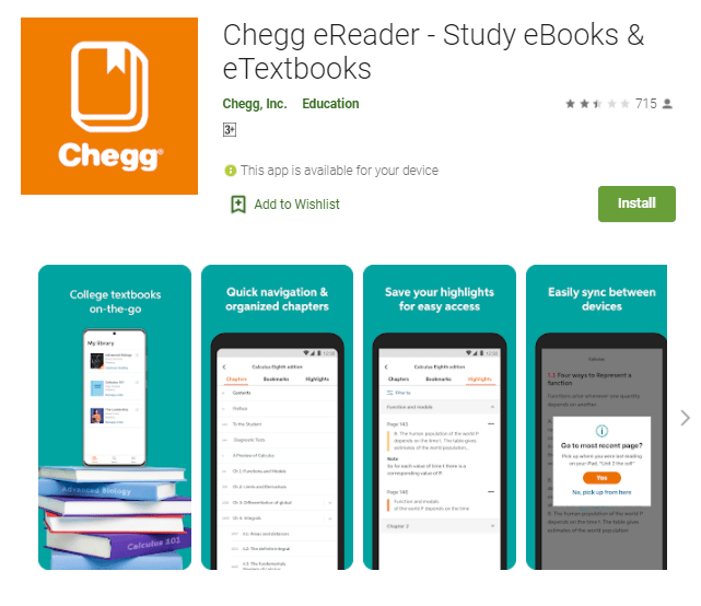 Chegg App For Pc Windows 10/8/7 - Free Download