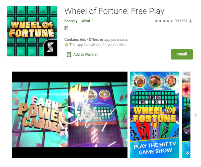 Wheel Of Fortune For Pc Windows 10/8/7/Mac