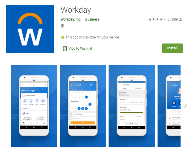 Workday App For Pc Windows 10/8/7/Mac